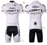 Wholesale JOHNNY S racing team cycling jersey shorts short sleeve jerseys pants bike bicycle riding wear set