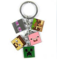 10pcs lot Game Minecraft Key Chian Keychains Metal Figure To...