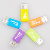 Wholesale 500pcs cheapest NEW High Speed USB Micro SD T Flash TF M2 Memory Card Reader adapter