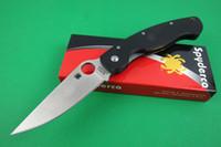 Wholesale Promotion Spyderco C36GPE Folding Knife S30V HRC blade g10 handle Line lock Camping tactical knife Survival Knife knives