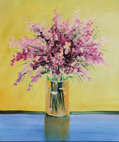 One Panel Oil Painting Classical Impressionist orchid Art Painting Modern Home interior picture Decorative Oil Painting on Canvas 60by80cm