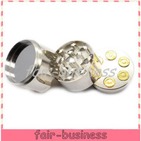 Wholesale Fashion Bullet Shaped layered Metal Alloy Tobacco Grinder Cigar Spice Crusher Cigarette Rolling Machine