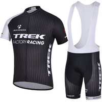Wholesale Trek Bontrager Factory Racing Cycling Jersey with Bib Shorts Tour Le France Super Lightweight High Elastic Spandex Bicycle Clothing