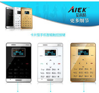 smartphone - 2014 Original Small Mini Touch Micro Card cell Mobile phone Aiek M3 Dual sim Slim FM MP3 Bluetooth Low Radiation by DHL