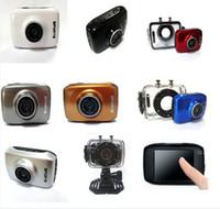 Wholesale NEW Mini Sports Camera Action Cam Camcorder Touchscreen Waterproof DV123SA Recorder AVI Support Micro SD memory card