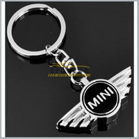 Cheap 10x ar Mini Cooper Logo 3D Key Chain Key Ring Badge Emblem For Auto New With Gift Box Free Shipping