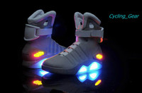 Wholesale 2014 New Mag Back to the Future Glittering Sports Shoes Limited Edition Sneaker Latest Cool Durable Shoes Skidproof LED Man Basketball Shoes