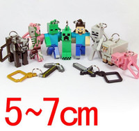 10pcs set Minecraft Hanger Creeper Figure Backpack Keychain ...