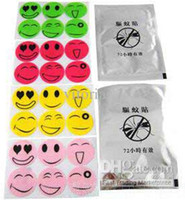 Wholesale Smiley Face Face Stickers Carry the Baby Mosquito Repellent Paste Mosquito Paste Pure natural essential mosquito paste Cartoon Funny