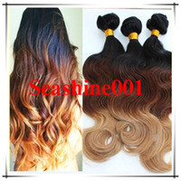 Wholesale 2014 Queen Hair Ombre Peruvian Remy Hair Weave hair extensions OMBRE HAIR ombre virgin hair b