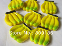 Cheap Free Shipping! Min. order is $10 (mix order) Resin banana fruit cabochons for DIY phone case decoration 10PCS lot