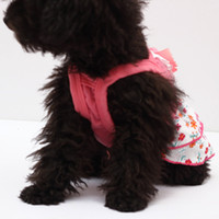 Wholesale Pet Dog Puppy Lace Floral Flower Skirt Dress Crystal Bowknot Princess Clothes Free amp Drop Shipping