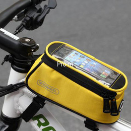 Wholesale 2014 Bicycle Bag ROSWHEEL New fifth generation mobile phone touch bag Frame Tube Bag