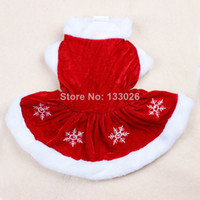 Wholesale New design Christmas dog clothing cute pet clothes flake winter warm for small medium dog cat Chihuahua Yorkshire Poodle Pitbull