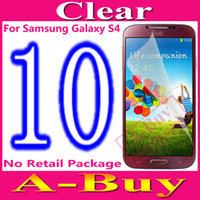 Wholesale Clear Glossy LCD Screen Protector Cover Guard For Samsung Galaxy S4 S IV i9500 i9505 No Retail Package