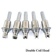 galvanized steel - MJTech Electronic Cigarette Dual Coils Head Big Vapor Prepaint Galvanized Steel Coil Pill Package ohm