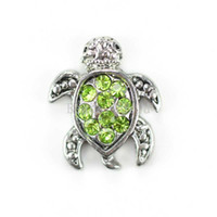 Wholesale Floating Charms for Living Locket Green Rhinestone Sea Turtle x10mm W02809 X