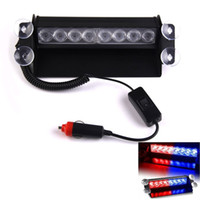 Wholesale New LED Strobe Light W V Car Flash Light Emergency Warning Light High Power
