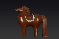 colored sand - Bronze Copper Ware Artwork and Crafts High Grade Collection Colored sand Auspicious Horse Company Home Decoration Business Gift