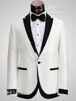 Cheap 2014 White Party Suit Groom Tuxedos,Amazing Wedding Party Groomsman Suit Boys Suit (Jacket+Pants+Tie) Bridegroom Suit Fashion Suit