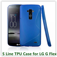 Cheap 10PCS Soft S Line Candy TPU Back Skin Cover Case for LG G Flex D958 with Colorful Soft Cover Case Free