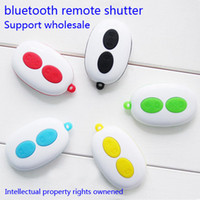 Wholesale Bluetooth Remote shutter Self timer Shutter Add Monopod Clip stand Self rod for Iphone Samsung smart phone for