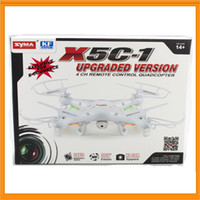Wholesale 100 Original Mini Package Syma X5C X5C Quadcopter G Axis UFO M Pixel Mini Drone With Camera and Degrees Helicopters Toy LED