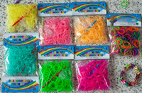 Cheap Colorful Rainbow Loom Rubber Bands kit Clear Glow In The Dark Amazing Xmas gift for children Single colors Bracelet Handmade DIY Latex Free