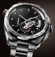 Wholesale Mens Luxury Automatic Watches Calibre Men Sport Steel Watch Black Dial TA06