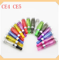 Replaceable 1.6ml Plastic CE4 CE5 atomizer electronic cigarette e cig e cig atomizer for ego evod battery E-cigarette ce4 ce5 clearomizer vaporizer for ego battery