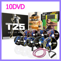 Cheap T25 10Disc Fitness WORKOUT FOCUS ALPHA & BETA PLUS BONUS FOCUS T25 Workout Set 10 DVD with B-LINE BANDS CORE SPEED $ STRETCH DVD INCLUDED