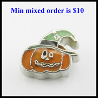 Wholesale NEW Arrive charms Halloween pumpkin floating charms for floating locket fit in origami owl lockets charms