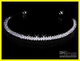 Wholesale Inexpensive Magnetic Diamond Crystals Rhinestone Wedding Crown Hair Band Tiara Bridal Prom Jewelry