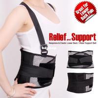 Wholesale New Neoprene Elastic waist support trimmer lumbar amp lower back support belt Brace Pain Relief