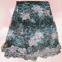Wholesale by DHL High quality African water soluble lace fabric Yards a piece newest design
