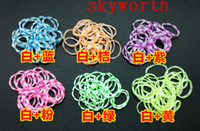 tie dye kit - DIY LOOM Kit Tie Dye Flower Jelly Rubber Bands DIY Bracelet Wristband bands S C clip Colors