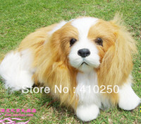cavalier - MN Fashion Cute Cavalier King Charles Dog Leather Wool Plush Toy Large for home decoration Gift