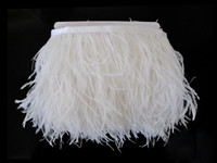Wholesale white ostrich feathers penas meters cm ostrich feather wedding trims trimming ribbon fringe
