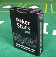 Wholesale hot selling one black plastic playing cards poker stars party poker hight quality