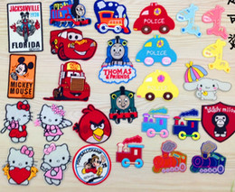 Wholesale style Cartoon animals Minnie kitty cloth stickers decoration DIY Bags Fabric clothing embroidery badges cm