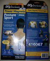Cheap Wholesale-407-Uni-sex Posture Sport Body Shaper Back Corrector Posture Shoulder Support Brace Belt Injury Sport Sports 1pc lot retail packin