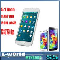 Wholesale MTK6582 S5 I9600 Quad Core Android KitKat Inch x1080 USB GB RAM GB ROM Air Gesture G GPS MP camera Smartphone