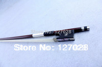 Cheap Free shipping Full Size 4 4 White-shell Brazilwood Violin Bow Pernambuco Violin Bow,Ebony Frog,Genuine Horse Hair,Violin Tools