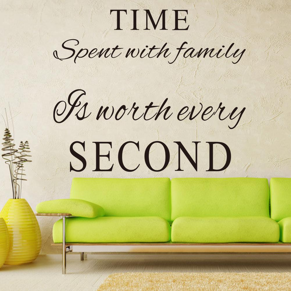 Time Spent With Family Is Worth Every Second Vinyl Wall Decals Quotes Words Art Decor Lettering Quote Stickers Room