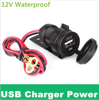 Wholesale 12V Waterproof Motorcycle HandleBar Cellphone USB Charger Power Adapter hight quality