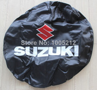 Wholesale Spare Tire Cover Wheel covers fit for Suzuki Weather resistant black Direct sales