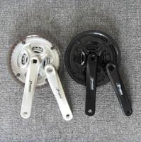 Freewheel Mountain Bikes 34-42T Free Shipping Prowheel Mountain Bike Crankset 7 - 8 - 9 Bicycle Tooth Plate Silver Black
