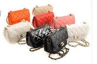 Wholesale HOT new women retro handbag brand designer shoulder bag Messenger bags cc quilted chain bag colors