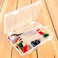 Plastic Sundries Eco Friendly Multi Grid Removable Plastic Storage box Organizer Boxes for Cosmetic Jewelry button Pill Case Casket Novelty household 8737