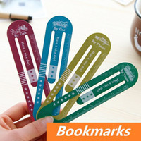 Wholesale 8 Metal bookmark for Book Page Holder Time travele Novelty book marker stationary office materials School supplies